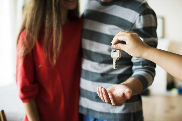 Couple Receiving Keys